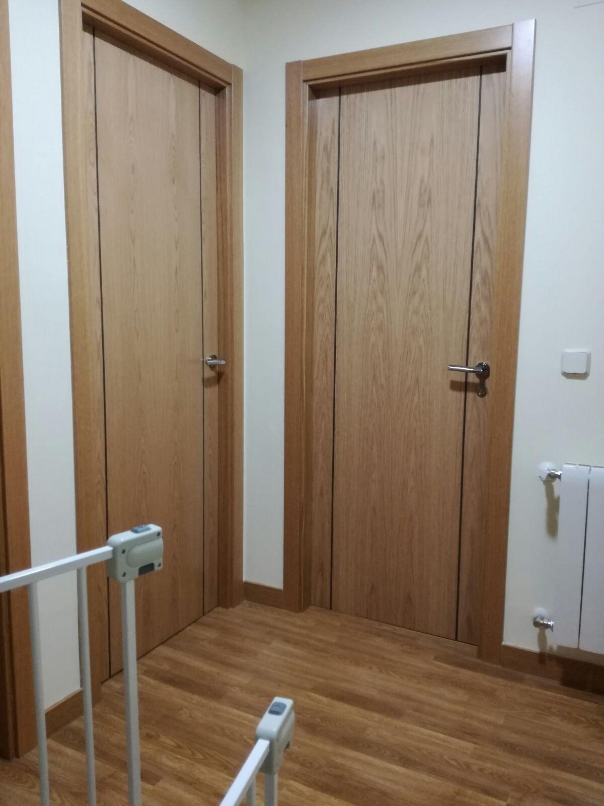 Puertas interiores nuevas viviendas