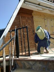 Restauración de madera dañada